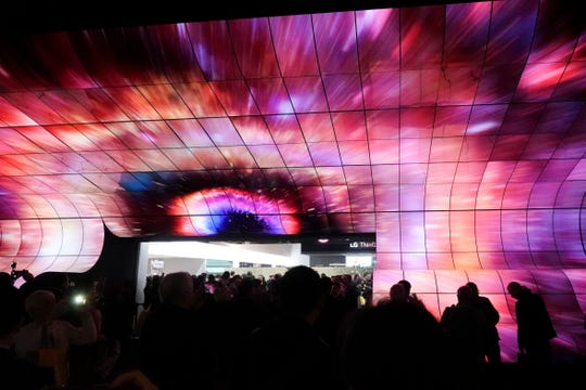 LG's wall of 250+ TVs wowed attendees at CES 2019