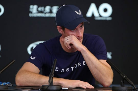 Andy Murray speaks during a press conference ahead of the Australian Open.