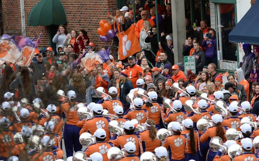 Clemson Football Team And Fans Celebrate The National