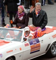 Dan Radakovich and family during the National Championship parade for the Clemson Tigers football team in Clemson Saturday, January 12, 2019.