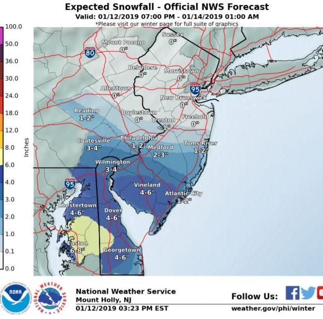 NJ weather: A little more snow for South Jersey