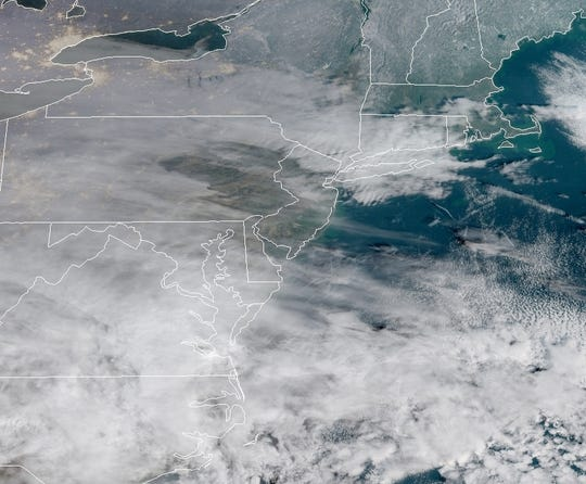 Satellite picture of New Jersey as of 8 a.m. on Jan. 12.