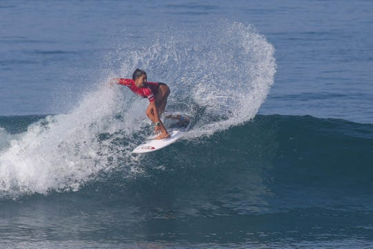 Brisa Hennessy of Hawaii is surfing under the Costa Rica flag with the goal of making the 2020 Olympics.