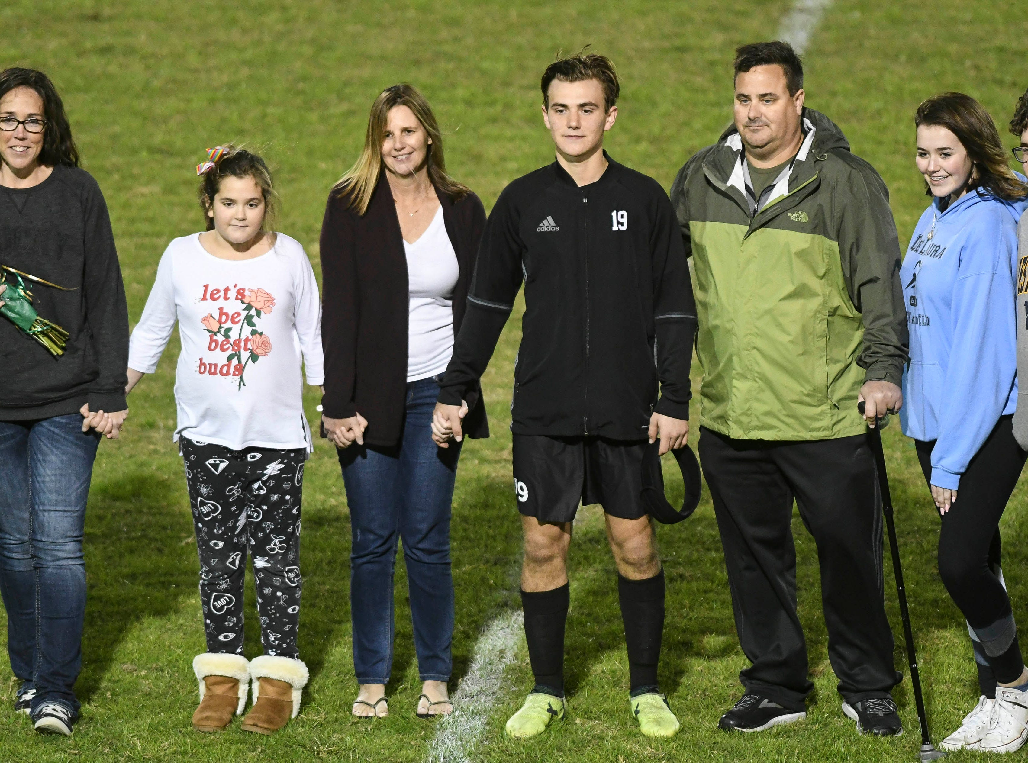 Nate Brooker of Viera was one of six seniors honored during Friday's game against MCC.