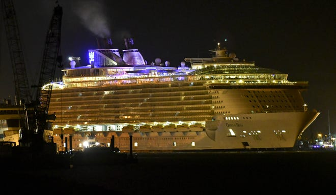 The Royal Caribbean Oasis of the Seas returns to Port Canaveral after a January cruise.