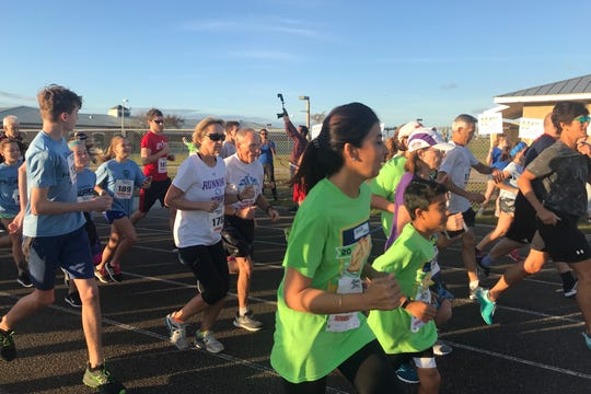 Athletes participating in last year's Health First Fight Child Hunger 5K Run/Walk. This year's event is scheduled for January 11, 2020.