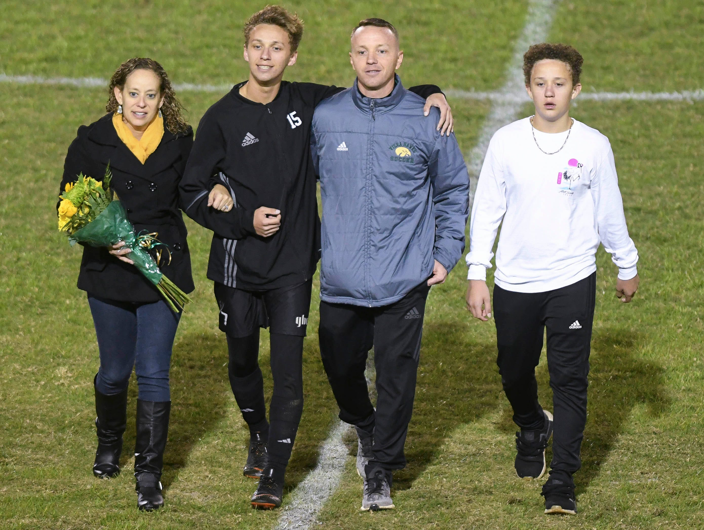 Nyles Lockridge was one of six seniors honored during Friday's game against MCC.
