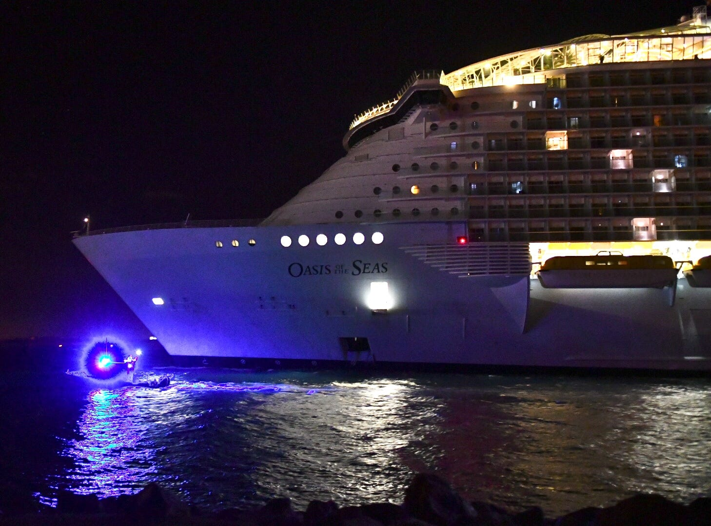 Following a Norovirus outbreak that sickened 402 people, Royal Caribbean's Oasis of the Seas returned to Port Canaveral a day earlier than expected. The ship pulled into port early morning of Jan. 12, 2019.