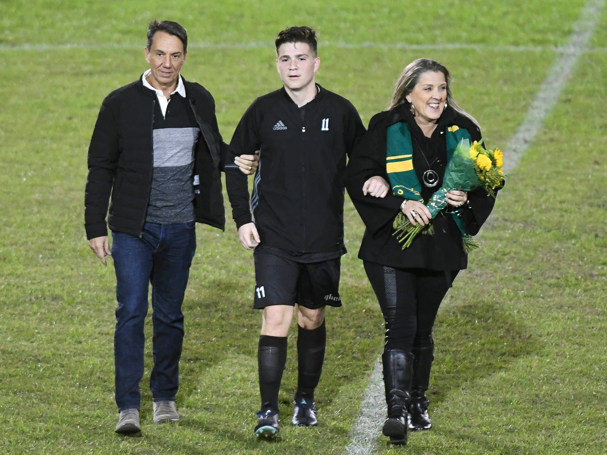 Christian Becerra of Viera was one of six seniors honored during Friday's game against MCC.