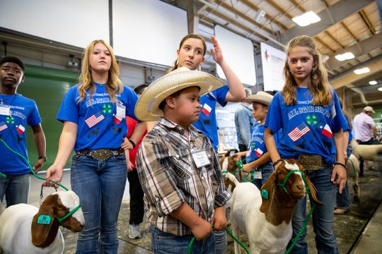 Ramsey Mireles waits to show a goat as he and other third to 12th grade special needs students show goats and lambs during the Nueces County Junior Livestock Show at the Richard M. Borchard Regional Fairgrounds in Robstown on Saturday, Jan. 12, 2019.