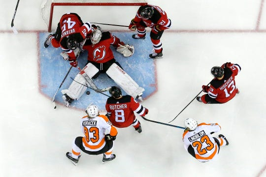 The Flyers got some quality chances on New Jersey Devils goalie Mackenzie Blackwood Saturday, but only beat him twice.