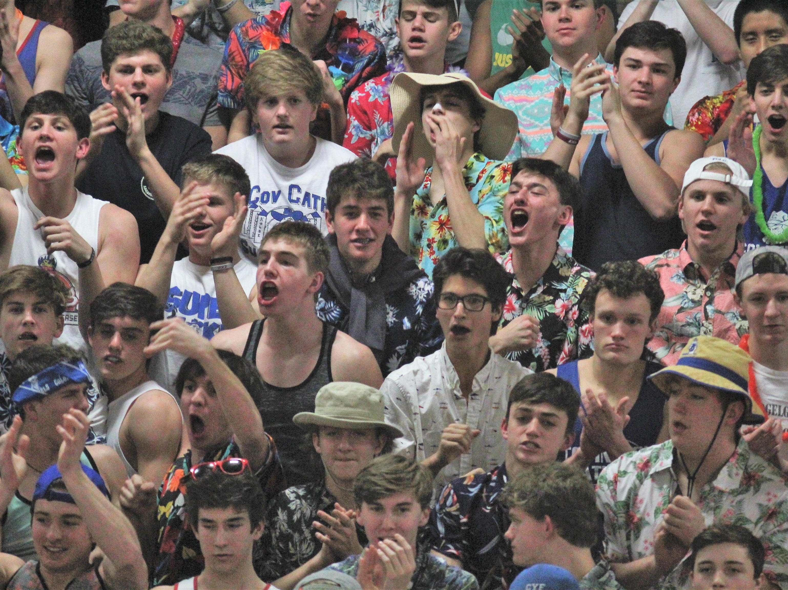 Covington Catholic students get into it as Covington Catholic defeats Cooper 53-47 in boys basketball Jan. 11, 2019 at CovCath.