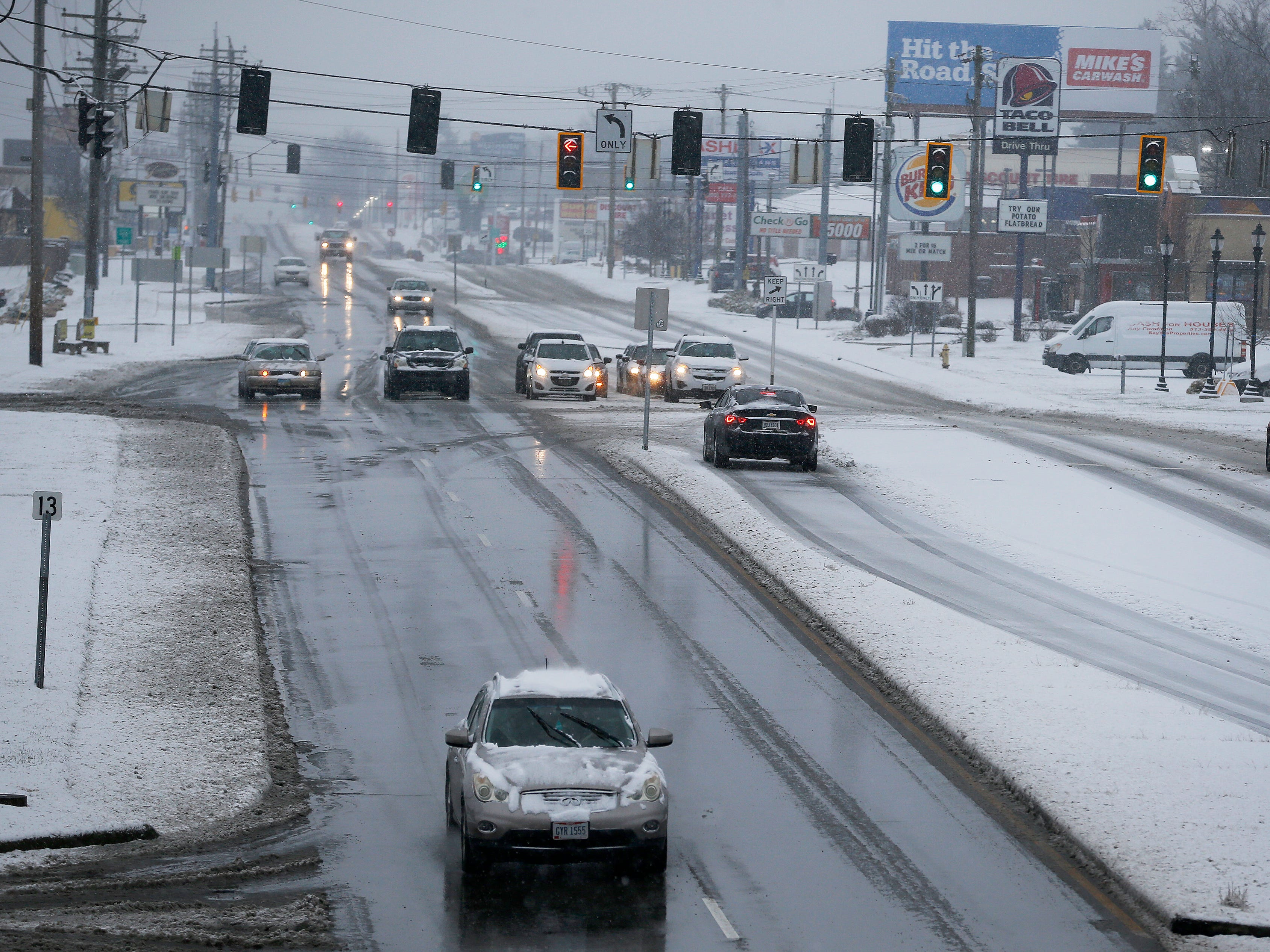 The northbound lanes of Colerain Avenue are clear Saturday January 12, 2019.