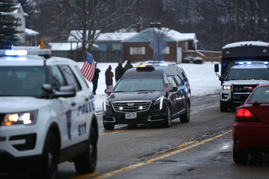 Police Officer Dale Woods Procession 01 12 2019