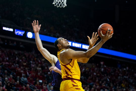 Iowa State's Talen Horton-Tucker shoots the ball during the Iowa State men's basketball game against Kansas State on Saturday, Jan. 12, 2019, in Hilton Coliseum. The Cyclones lost to KSU by one point, 58-57.