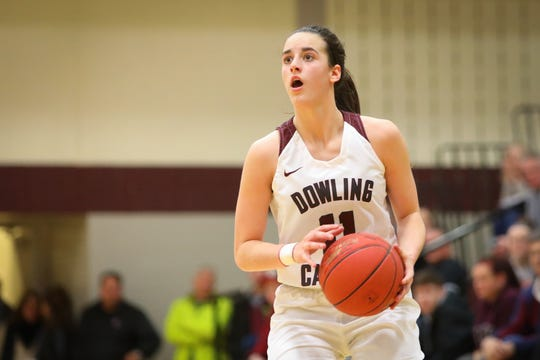 Dowling Catholic standout and Iowa signee Caitlin Clark will need to continue her scoring ways if the Maroons are to navigate a tough January. Clark leads the state in scoring and has Dowling ranked fifth in the latest Super 10.