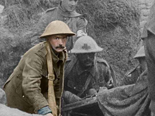 """""""They Shall Not Grow Old"""" colorizes and upgrades century-old footage from World War I."""