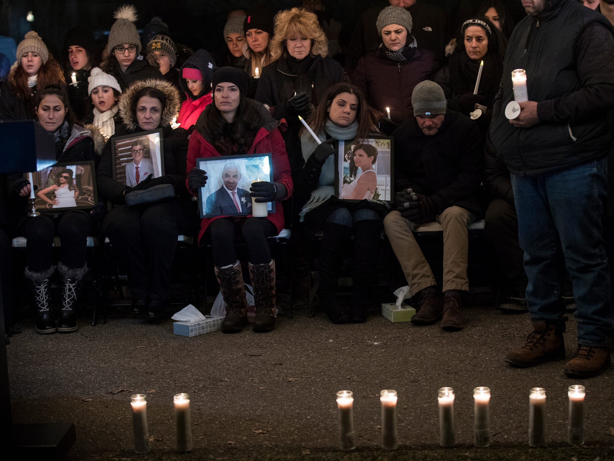 Northville community held a candlelight vigil to remember the Abbas family at the Ford Field Park in Northville Friday, Jan. 11, 2019.