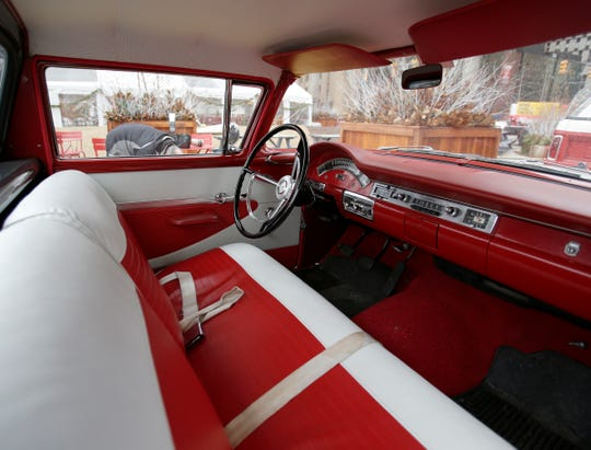 The interior of a 1957 Ford Ranchero on display at the Spirit of Detroit Plaza during The Drive Home event on January, 12, 2019.