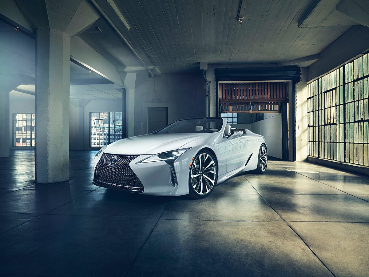 The Lexus LC convertible concept will debut at the 2019 North American International Auto Show in Detroit Jan. 14.
