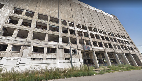Police said the man was with a group offriends playing a game of hide-and-seek inside the building on St. Aubin near East Ferry, an extension building of the 45-building plant.