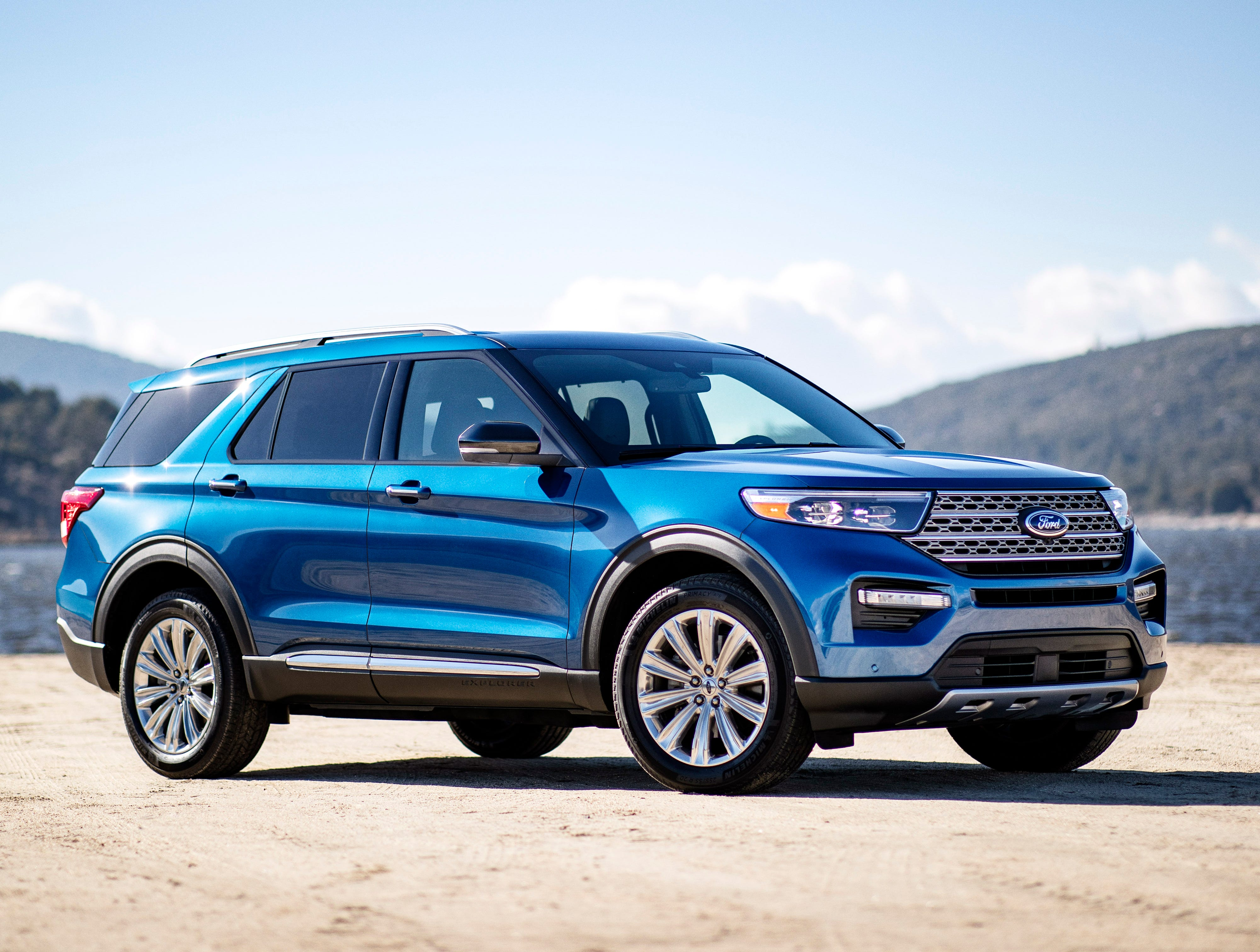 """""""The 2020 Ford Explorer Hybrid features a 3.3-liter hybrid powertrain, and is projected to produce a combined system 318 horsepower. An EPA-estimated range of more than 500 miles between gas station fill-ups is targeted for the rear-wheel-drive model."""""""