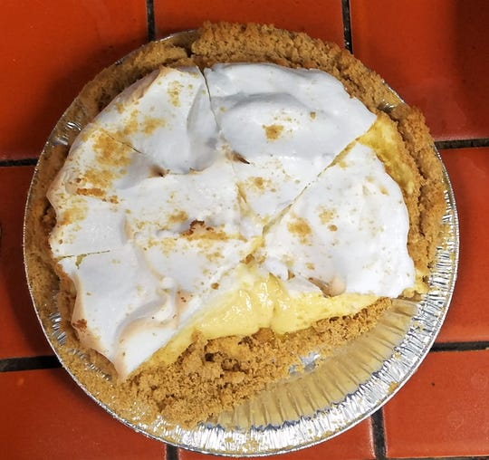 Eastgate Family Restaurant is known for homemade pies such as this old fashioned lemon ice box pie.