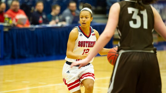 Ashley Johnson finished with seven points, seven assists and five steals in USI's 75-49 win over Quincy on Saturday afternoon.