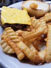 The crinkle-cut fries are cooked golden and crisp at Eastgate Restaurant in Henderson.