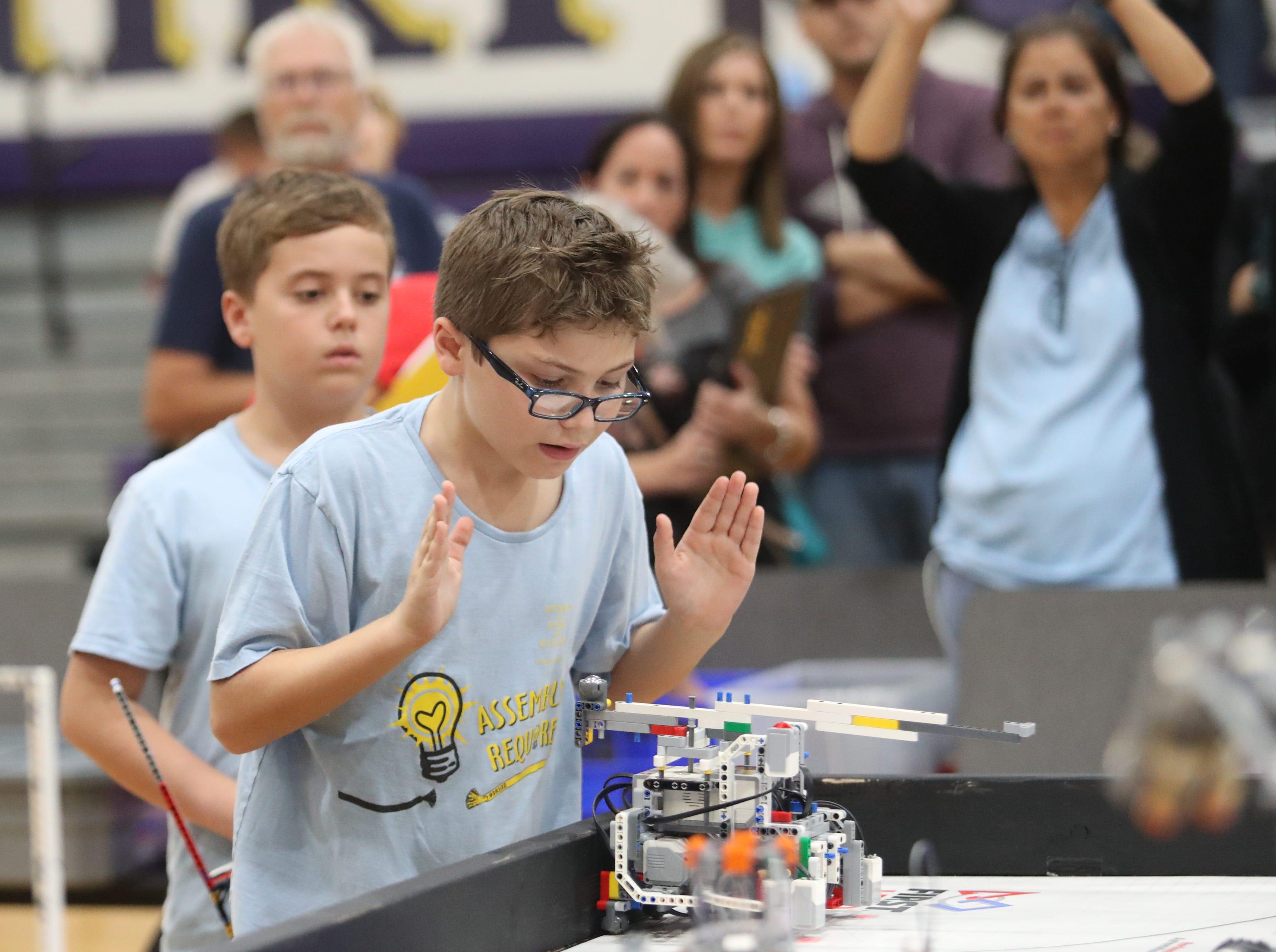 Twenty eight teams from six counties compete in the Cypress Lake First LEGO League qualifying tournament at Cypress Lake Middle School on Saturday, January 12, 2019, in Fort Myers.