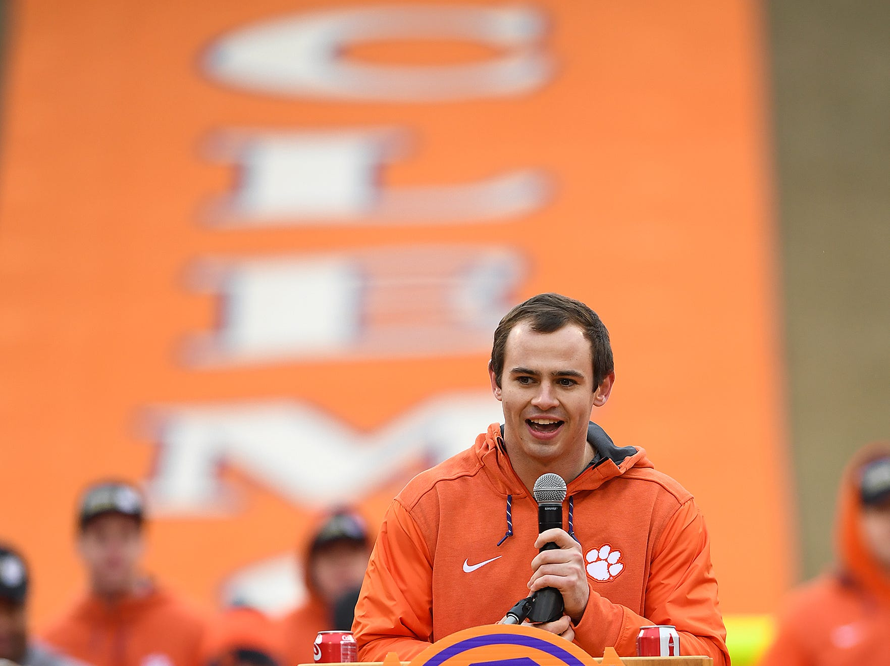 Clemson senior wide receiver Hunter Renfrow during the Tigers National Championship celebration Saturday, January 12, 2019 at Clemson's Memorial Stadium.