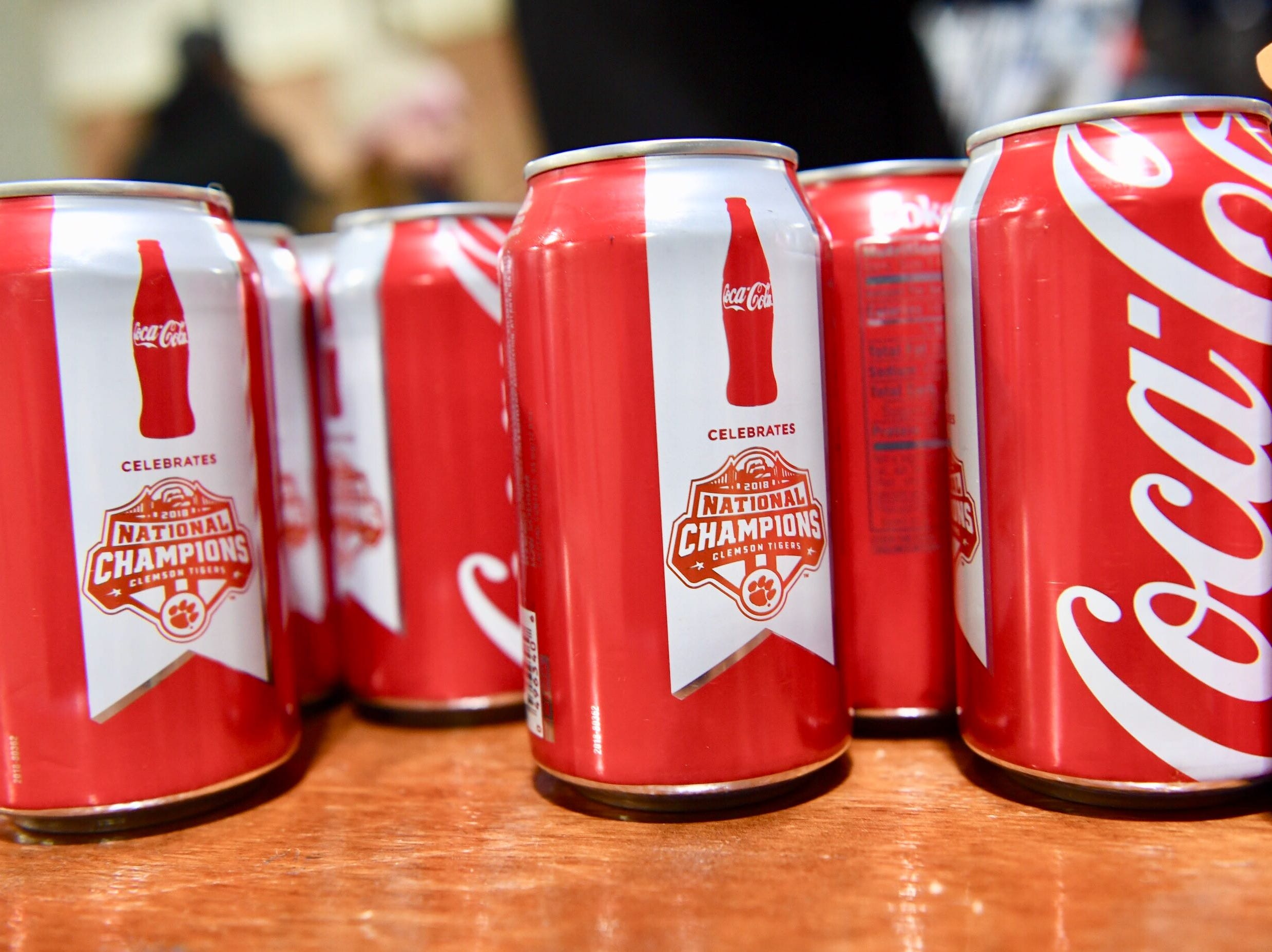 Clemson National Championship Coke cans given to first 2,400 at Memorial Stadium.
