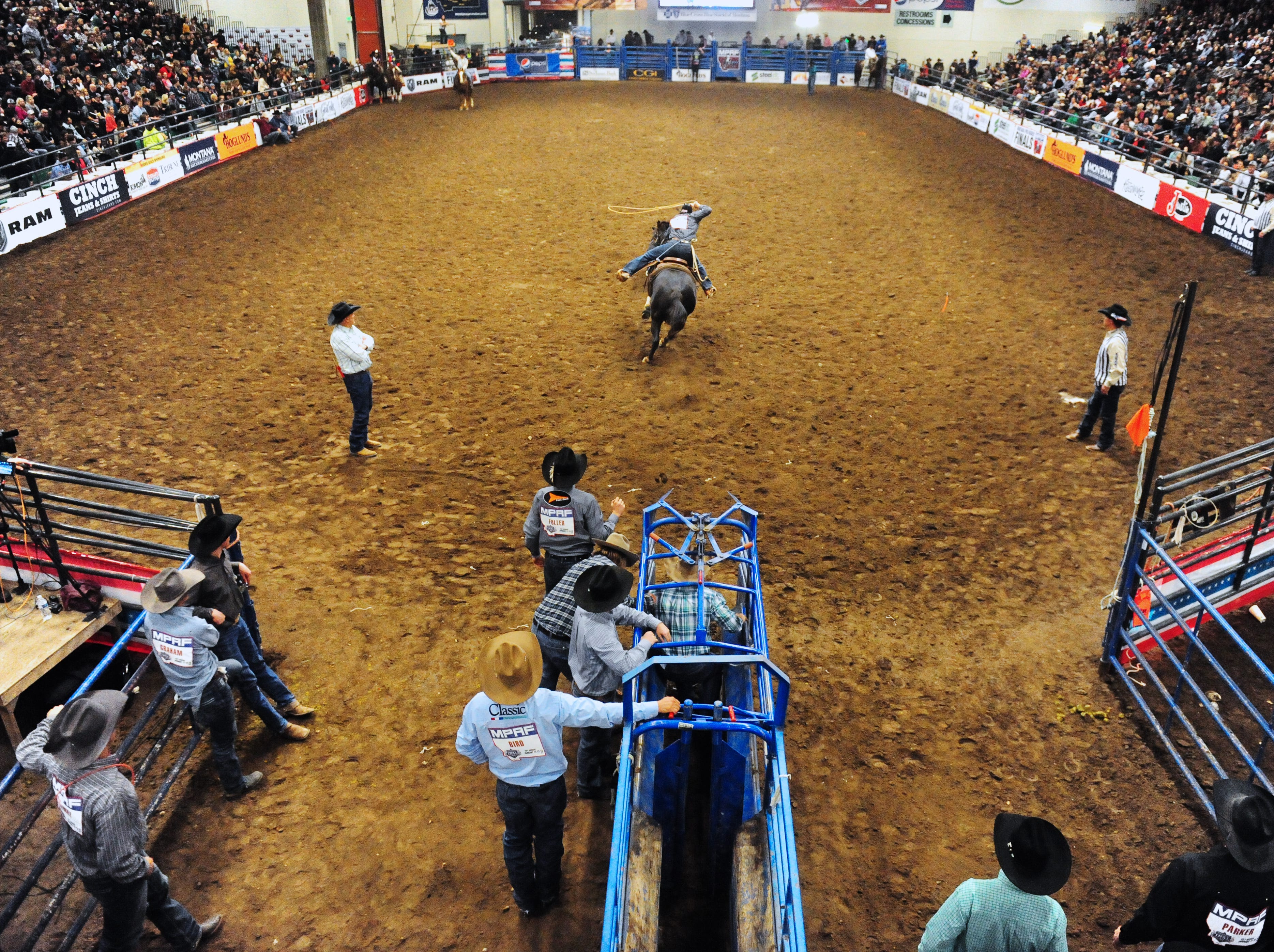 Montana Pro Rodeo Circuit Finals in the Pacific Steel and Recycling Four Seasons Arena, Friday, January 11, 2019.