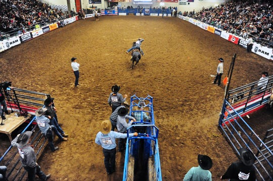 Pacific Steel and Recycling Four Seasons Arena during the Montana Pro Rodeo Circuit Finals in Jan. 2019. A new 10,000-seat multi-use arena at Montana ExpoPark was among plans unveiled for improvements to the fairgrounds at a public presentation Thursday night.