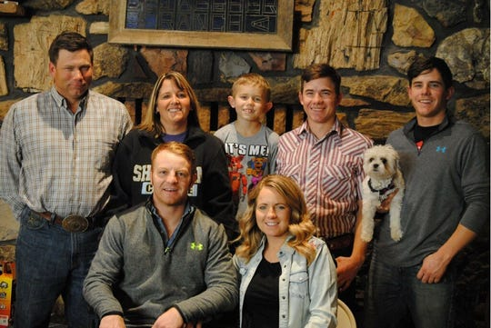 The Newman family, including TJ and Liane and their sons Sage, Nevada and Siggen, plus daughter Shelby and son-in-law JR Vezain, posed for a Christmas picture a few weeks ago.