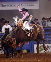 Deer Lodge saddle bronc star Chase Brooks.