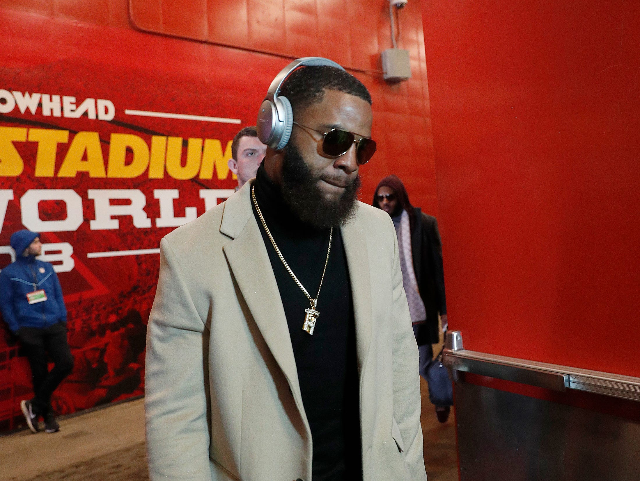 The Indianapolis Colts arrive for their game against the Kansas City Chiefs at Arrowhead Stadium in Kansas City, MO., on Saturday, Jan. 12, 2019.