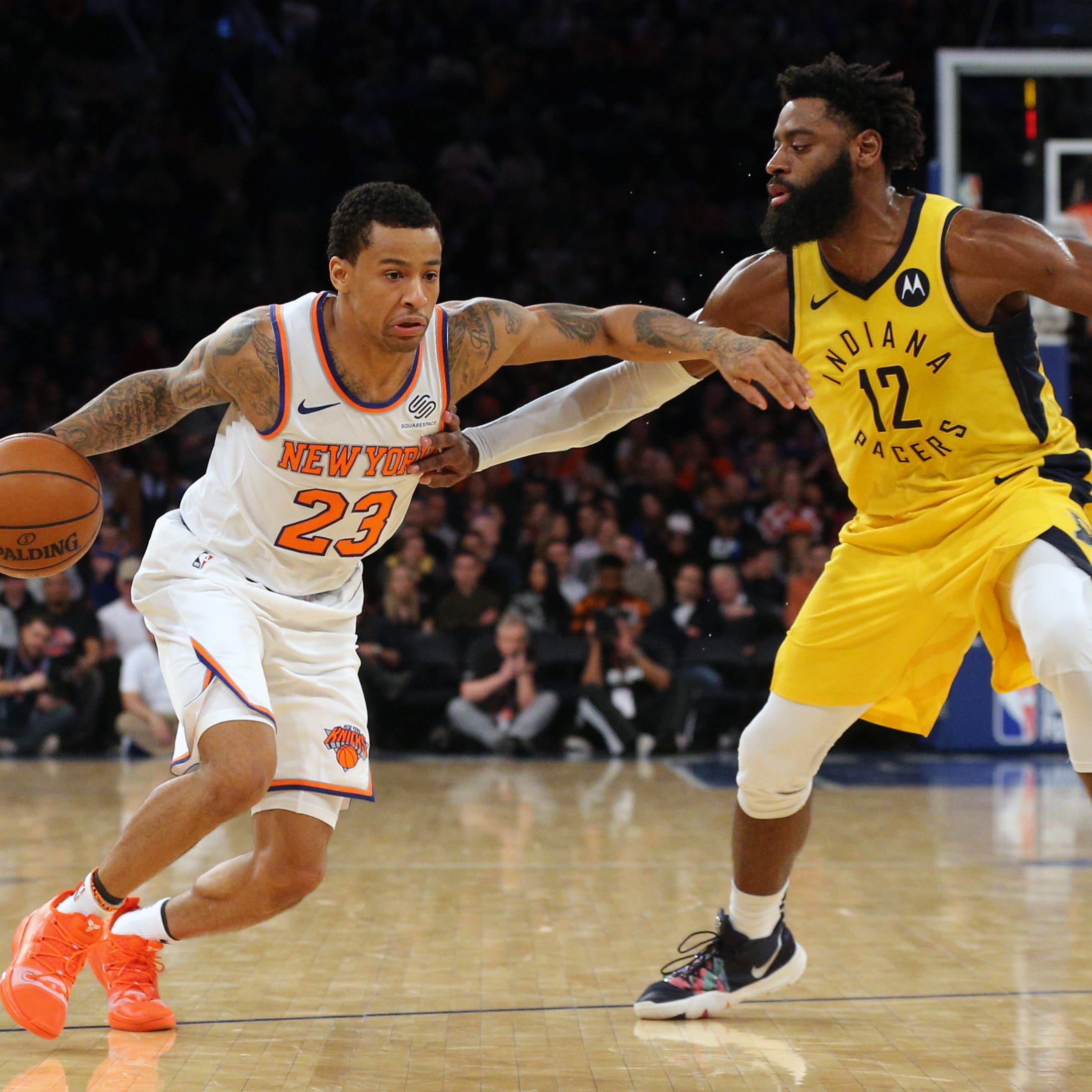 Pacers rebound to blast Knicks, end road trip on high note and with a winning record