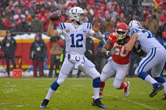 QB Andrew Luck will miss the last month of the Colts' on-field work this offseason but is expected to be ready to go for training camp in July.