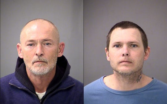 47-year-old Benjamin Gardner, left, and 40-year-old Kevin Lemaster were arrested by IMPD in connection with a fatal shooting Thursday night.