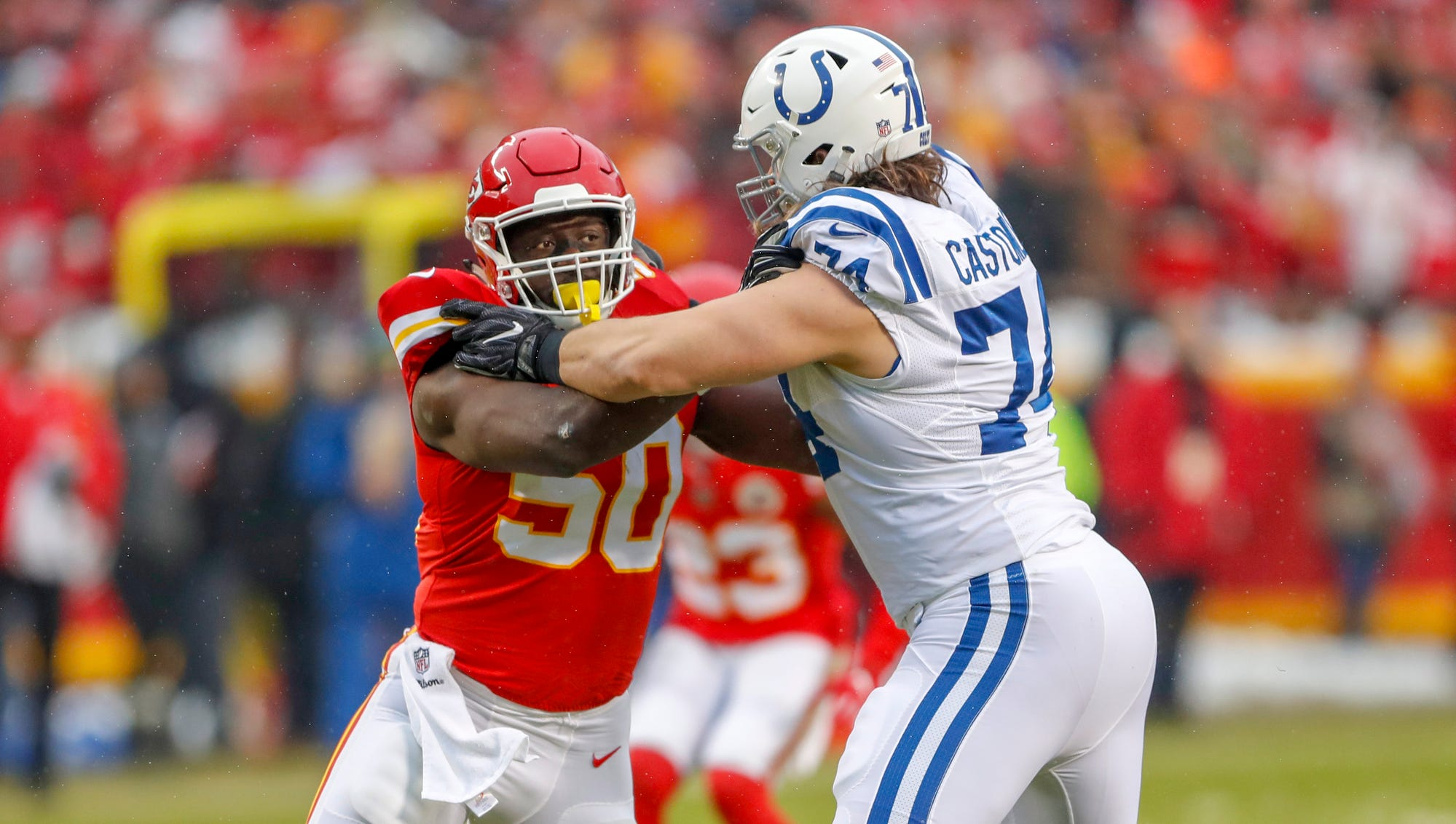 Indianapolis Colts offensive tackle Anthony...