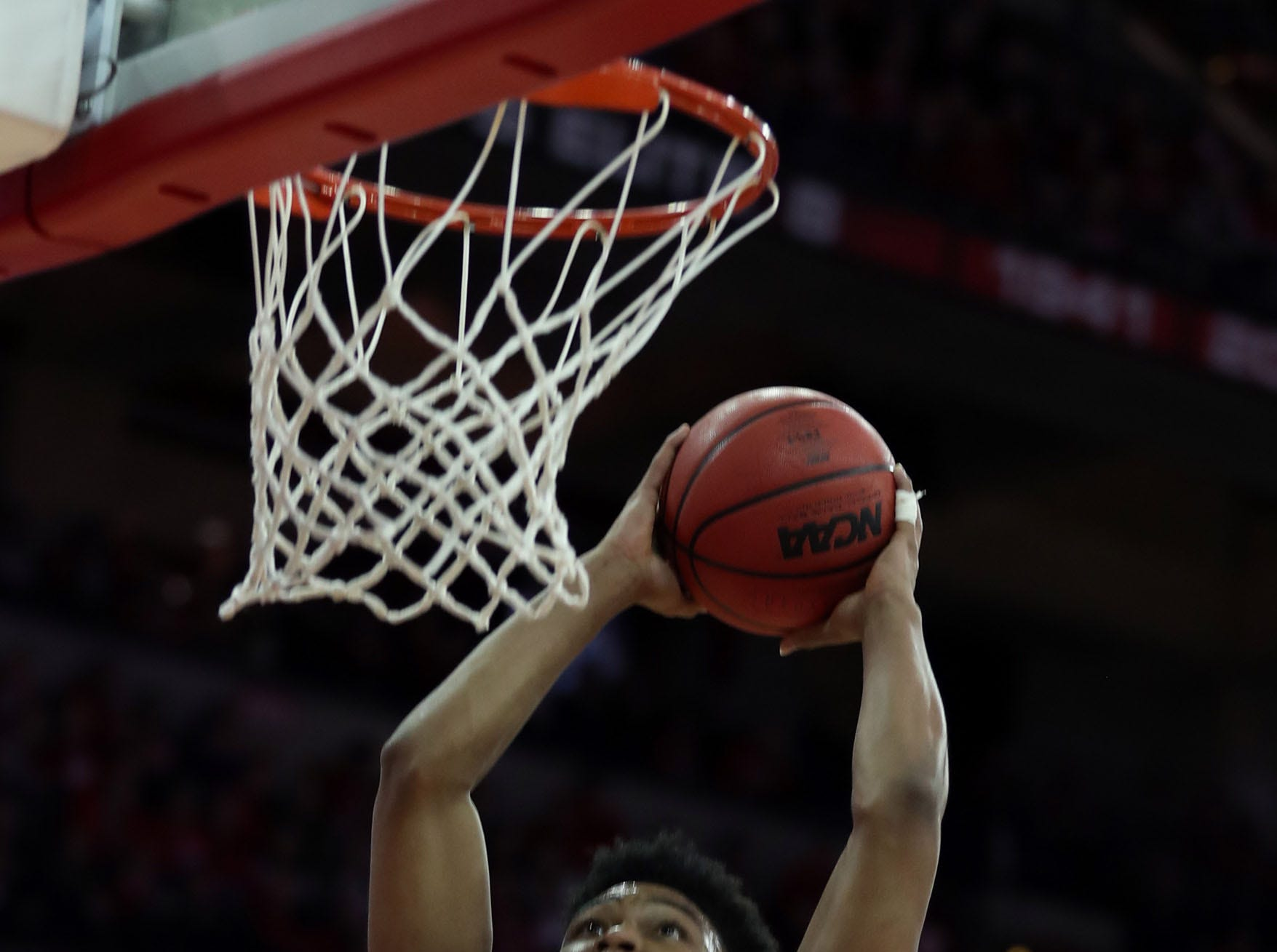 Jan 11, 2019; Madison, WI, USA; Purdue Boilermakers guard Nojel Eastern (20) prepares to dunk the bal during the game with the Wisconsin Badgersl during the first half at the Kohl Center. Mandatory Credit: Mary Langenfeld-USA TODAY Sports