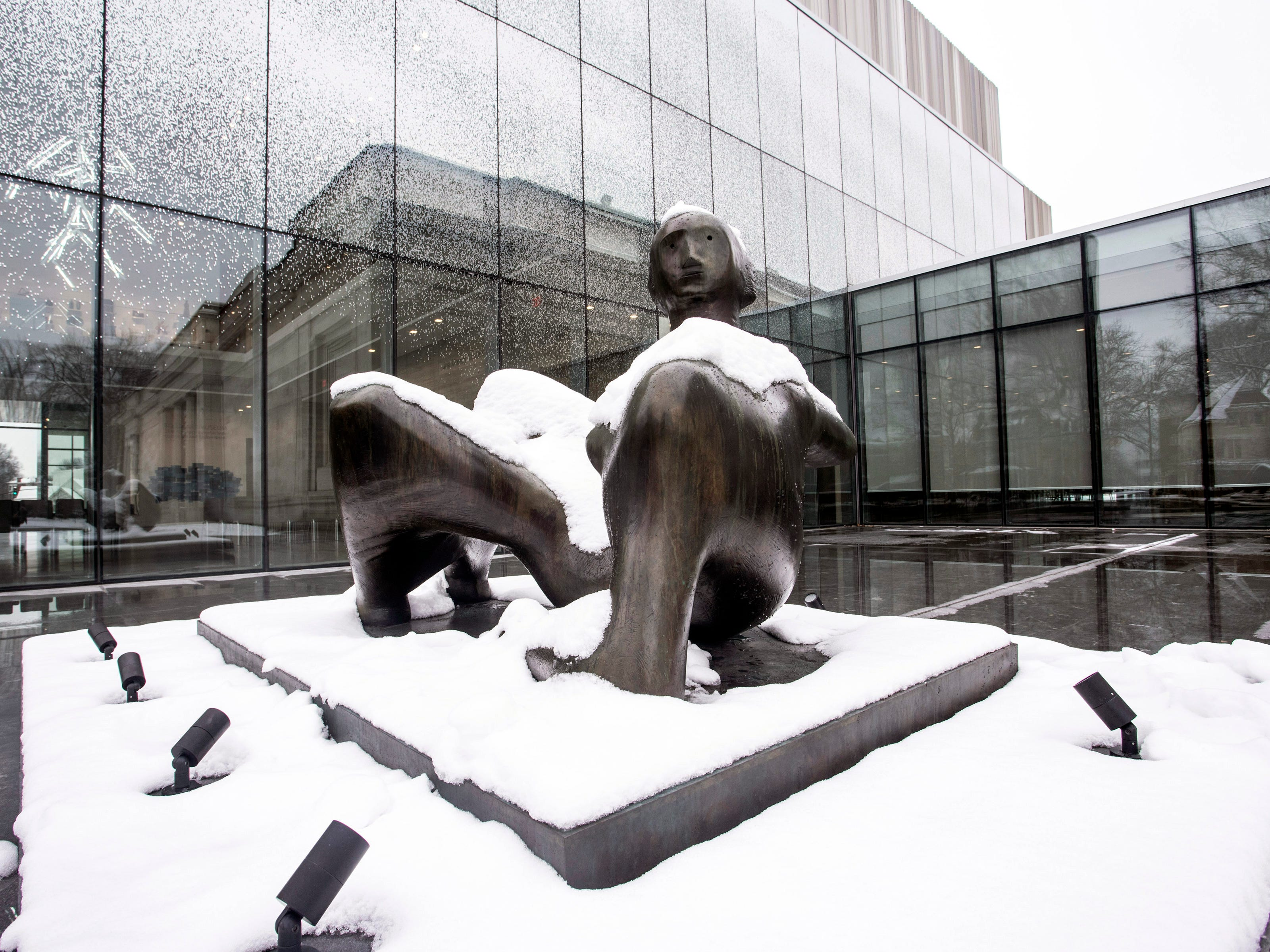 The Speed Art Museum had a fresh coat of snow on Saturday morning. 1/12/19