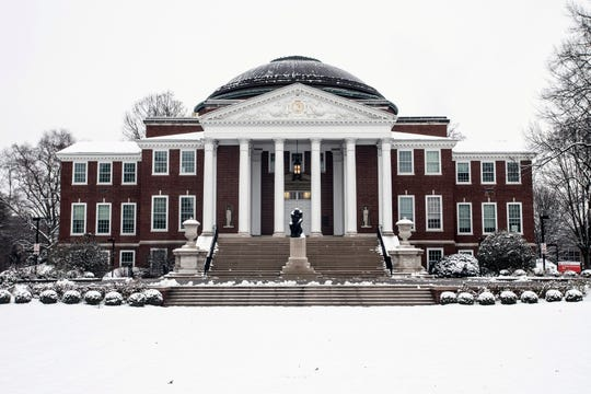 The University of Louisville campus was covered with snow on Jan. 12, 2019.