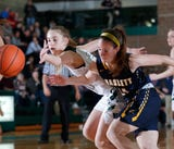 See some of the action from Williamston's win over Haslett on January 11, 2019, and hear remarks from Hornet junior guard Kenzie Lewis.