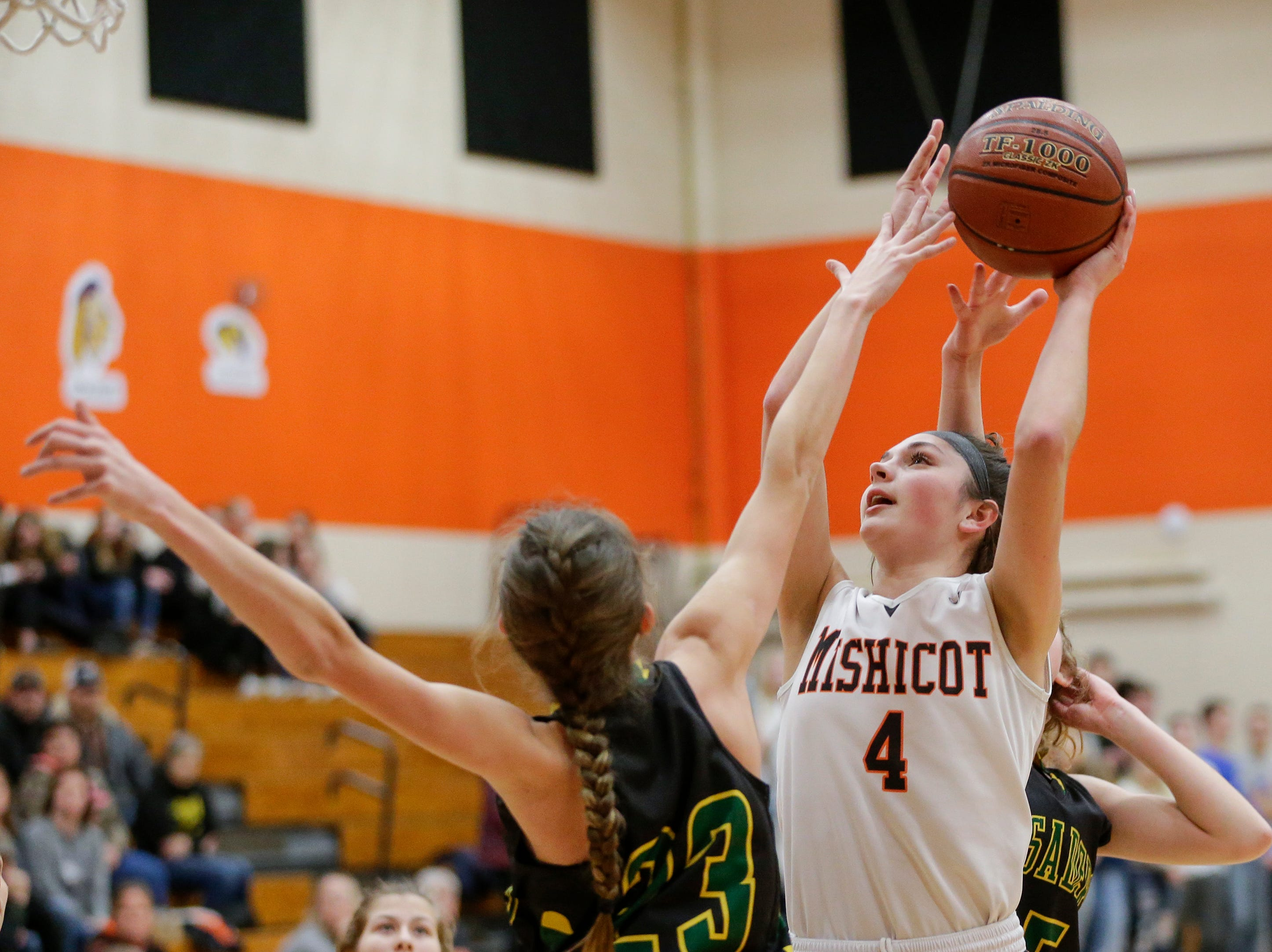 Mishicot's Desiree Kleiman shoots against Sheboygan Area Lutheran during a Big East Conference matchup at Mishicot High School Friday, January 11, 2019, in Mishicot, Wis. Joshua Clark/USA TODAY NETWORK-Wisconsin