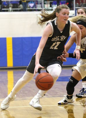 Shelby's Emma Randall drained a buzzer-beater to help the Lady Whippets win the Mid-Ohio Athletic Conference championship and remain the No. 1 team in the Richland County Girls Basketball Power Poll.