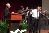 Mark Norris had already been sworn in as a new federal judge in a private ceremony, but repeated the oath at a public event on Jan. 11, 2019.