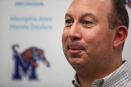 Memphis Tigers special teams coordinator Pete Lembo talks to reporters during a press conference to introduce new football coaching staff members on Jan. 12.