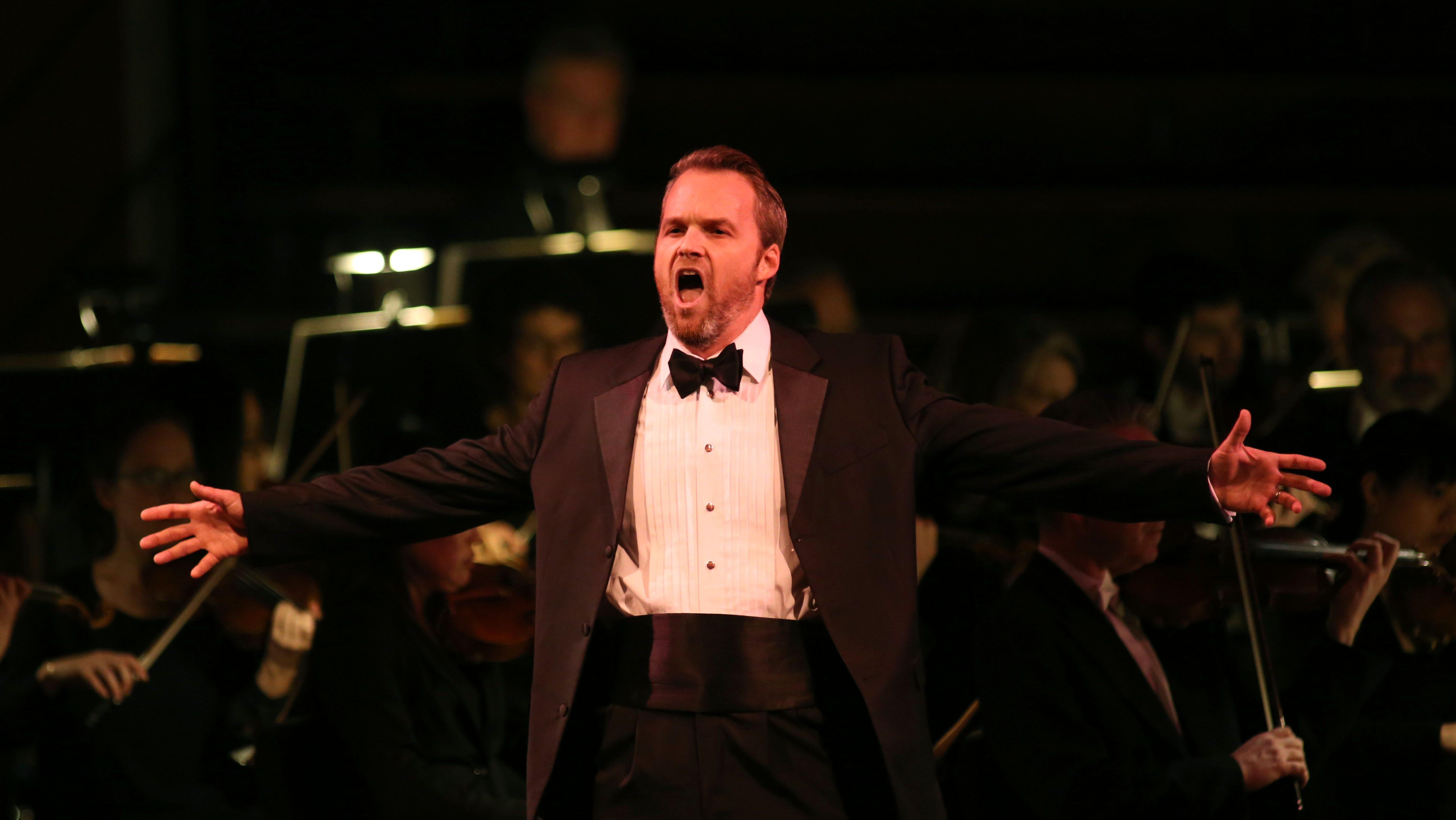 Ryan McKinny sings as the Dutchman as the...